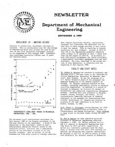 ME Newsletter September 1980
